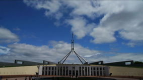 Parliament House, Canberra Australia stock video footage