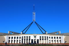 Parliament House in Canberra. Parliament House opened in 1988 during beautiful day in Canberra, Australia Stock Photography