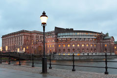 Parliament House in Stockholm Stock Image