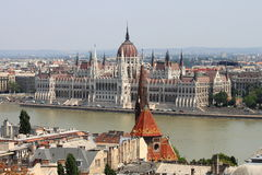 Parliament of Hungary in Budapest Royalty Free Stock Photos
