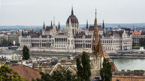 Parliament of Hungary in Budapest Stock Photography