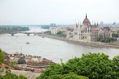 Parliament of Hungary, Danube river. Royalty Free Stock Photography