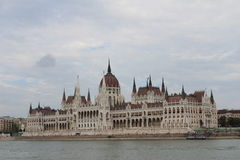 Parliament of Hungary (Orszaghaz). Parliament of Hungary in Budapest Royalty Free Stock Photo
