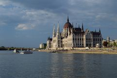 Parliament of Hungary. The parliament of Hungary from the river Danube Stock Photo