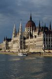Parliament of Hungary. The parliament of Hungary from the river Danube Royalty Free Stock Image