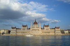 Parliament of Hungary. The parliament of Hungary from the river Danube Royalty Free Stock Photography