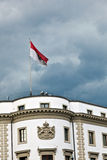 Parliament (Landtag) of Hesse in Wiesbaden, Germany in dark clou Stock Photography