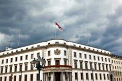 Parliament (Landtag) of Hesse in Wiesbaden, Germany in dark clou Royalty Free Stock Photos