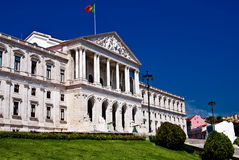 Parliament of Lisbon stock image