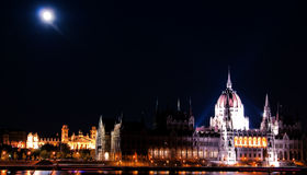 The Parliament in the moonlight royalty free stock images