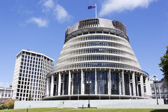 Parliament of New Zealand. The parliament building called The Hive in Wellington city (New Zealand Royalty Free Stock Photography