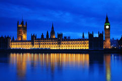 Parliament by Night Stock Photos