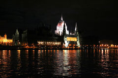 Parliament at night Royalty Free Stock Photography