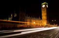 Parliament at Night. Big Ben and the parliament building in London at night Royalty Free Stock Photos