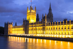 Parliament at night, London, England Stock Photo