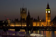 The Parliament during Nightime Stock Photography