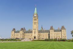 Parliament of Ottawa in Canada stock photography