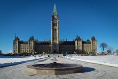 Parliament of Ottawa, Canada. OTTAWA, CANADA-JANUARY 20, 2014: Parliament of Ottawa, capital of Canada during winter season Stock Photos