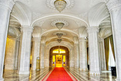 Parliament Palace. Inside the building of Parliament Palace in Bucharest Romania royalty free stock photography