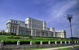 Parliament Palace. The building of Parliament Palace in Bucharest Romania stock image