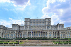 Parliament Palace. On A Blue Sky Stock Photography