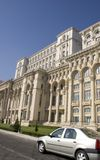 Parliament Palace. View from the Bucharest Parliament Palace garden Romania Stock Photos