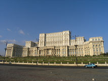 Parliament Palace Bucharest royalty free stock photography