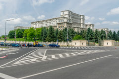 Parliament Palace Bucharest. The largest building in Europe Royalty Free Stock Photography