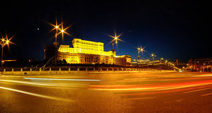 Parliament Palace in Bucharest Royalty Free Stock Photography