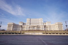 Parliament palace, Bucharest, Romania. The Parliament palace of Bucharest is the biggest building in Europe and the second in the world after the Pentagon of Royalty Free Stock Photos
