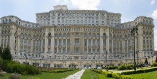 Parliament Palace Bucharest, Romania. Parliament Palace in Bucharest, Romania build by Nicolae Ceauşescu Royalty Free Stock Image