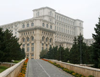 Parliament Palace (Casa Poporului), Bucharest. Romania. The second largest building in the world. The last piece of work under the Communist dictatorship of Stock Images