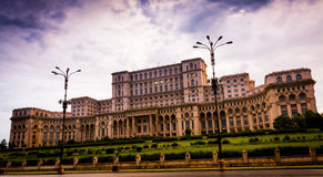 Parliament Palace. Second largest building world wide, Bucharest, Romania Royalty Free Stock Images