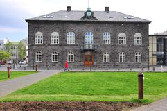 Parliament of Reykjavik Royalty Free Stock Images