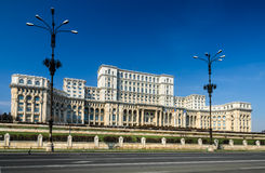 Parliament of Romania building, Bucharest Royalty Free Stock Images