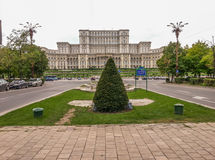 Parliament of romania, view from unirea boulevard Royalty Free Stock Images