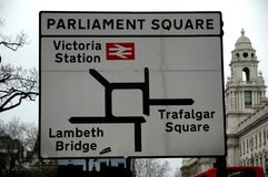 Parliament Square. Road Map of London Stock Photo