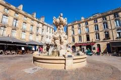 Parliament Square en Bordeaux, France photographie stock