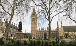 Parliament Square and Houses of Parliament Big Ben London UK Stock Images