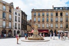 Parliament Square ou Place du Parlement en Bordeaux photos stock