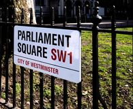 Parliament Square Sign Royalty Free Stock Photos