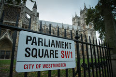 Parliament Square sign Stock Image