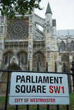 Parliament Square sign Stock Photos