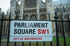 Parliament Square sign Royalty Free Stock Photography