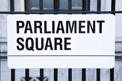 Parliament Square Street Sign, Westminster; London Stock Photos