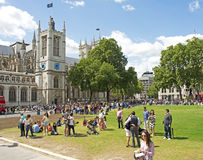 Parliament Square & Westminster Abbey Stock Photos