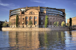 Parliament Stockholm. The parliament building in Stockholm, Sweden royalty free stock photo