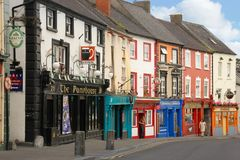 Parliament street. Kilkenny. Ireland. Picturesque and colourful pubs and restaurants in Parliament street. Kilkenny. county Kilkenny. Ireland Royalty Free Stock Image