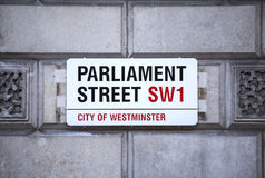 Parliament Street in London Royalty Free Stock Photo
