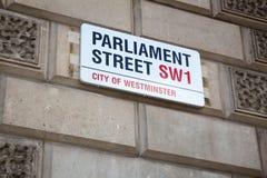Parliament Street, London Royalty Free Stock Photography